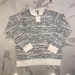 Balenciaga Men New Cotton Sweaters XLarge